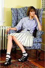 Blue-j-press-shirt-blue-anthropologie-skirt-silver-h-m-socks-black-forever