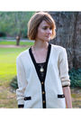 White-brooks-brothers-cardigan-black-forever-21-top-black-topshop-shorts-b