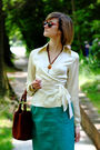 White-the-limited-top-brown-bally-purse-green-vintage-skirt-brown-miu-miu-