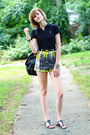 Black-shoulder-bag-boyy-bag-lime-green-tropical-print-topshop-shorts