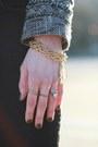 Gold-agate-taryn-reed-bracelet-black-skinny-zara-jeans