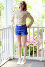 Off-white-cableknit-romwe-sweater-violet-high-waisted-ksubi-shorts