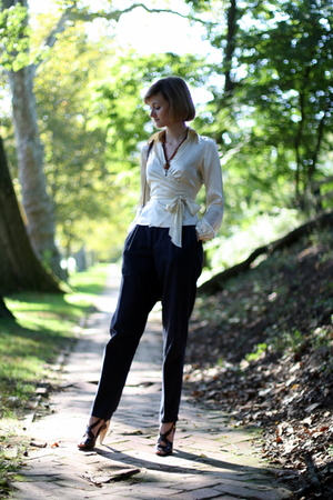 The Limited top - vintage necklace - vintage pants - Pour La Victoire shoes - Lo