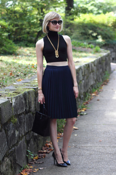 black crop top asos top - black pumps Theyskens Theory shoes