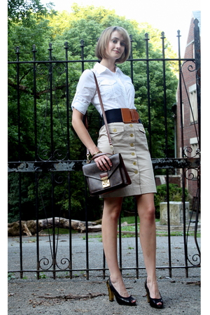 Target top - vintage belt - H&M skirt - Louis Vuitton purse - PROENZA SCHOULER s