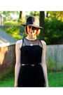 Black-vintage-jumper-black-h-m-hat-black-finsk-shoes-gold-vintage-necklace
