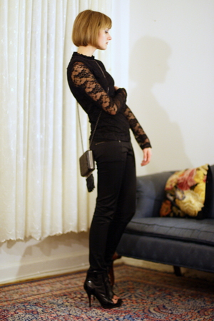 Forever 21 top - H&amp;M pants - Christopher Kane for Topshop purse - Givenchy boots