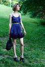 Purple-ella-moss-dress-gold-vintage-necklace-black-jeffrey-campbell-shoes-