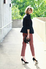 Black-fitted-zara-blazer-black-clutch-fringe-topshop-bag