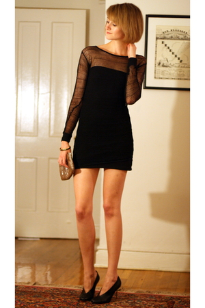 Helmut Lang dress - H&amp;M dress - maison martin margiela shoes - Lauren Merkin pur