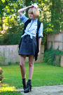 Gray-megan-nielsen-skirt-black-forever-21-vest-blue-j-press-shirt-gray-nin