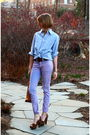 Blue-j-press-shirt-purple-american-apparel-jeans-brown-miu-miu-shoes-silve