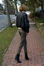 Black-h-m-jacket-blue-ralph-lauren-scarf-beige-banana-republic-sweater-gre