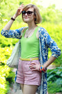 Blue-cardigan-print-anthropologie-sweater-white-hobo-theory-bag