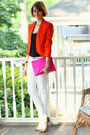 White-skinny-jeans-mango-jeans-carrot-orange-structured-zara-blazer