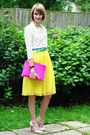Hot-pink-cluch-asos-bag-yellow-pleated-romwe-skirt