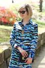 Aquamarine-shirtdress-tucker-dress-black-mini-sophie-hulme-bag