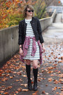 Black-ankle-boots-h-m-boots-ivory-striped-swing-asos-dress