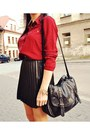 Ruby-red-stradivarius-shirt-black-stradivarius-skirt