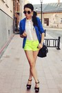 Chartreuse-wwwromwecom-shorts