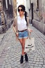 White-cubus-shirt-beige-wwwsouvebigcartelcom-bag-light-blue-vintage-shorts