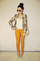 mustard New Yorker pants