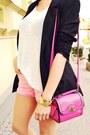 Black-bershka-jacket-hot-pink-wwwoasapcom-bag