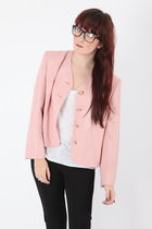 pink Dixi jacket - brown Dixi glasses