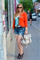 Zara blazer - Givenchy shoes - Mulberry bag - DIY shorts - Zara blouse