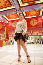 Zara top - Milano bag - Zara heels - Zara skirt