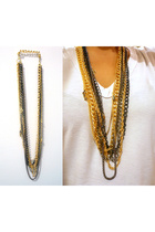 DIY necklace - - -