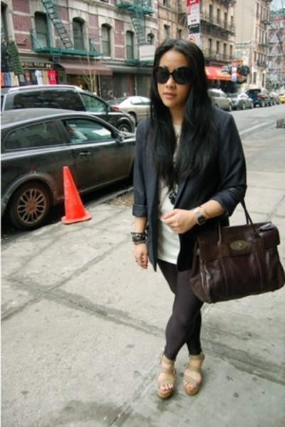 H&M blazer - Gap shoes - Mulberry accessories - Miu Miu sunglasses