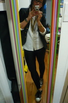 Forever21 blazer - ralph lauren kids  blouse - aa tights - Converse shoes - me