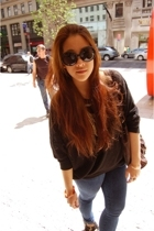 Miu Miu sunglasses - Topshop jeans - ASH shoes - beijing top