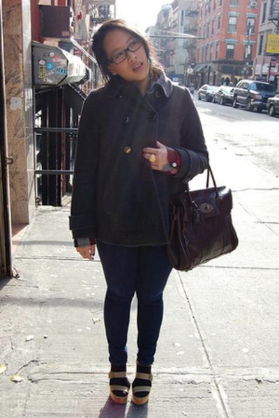 Zara coat - Mulberry purse - Pierre Hardy for Gap shoes - Target shirt