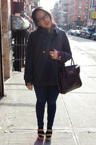 Zara coat - Mulberry purse - Pierre Hardy for Gap shoes - Target shirt