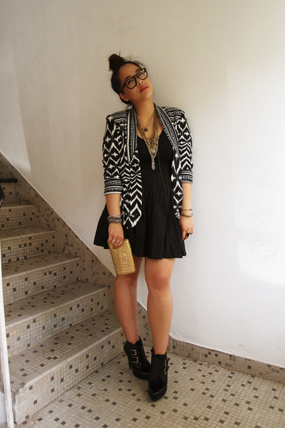 black whip it Jeffrey Campbell shoes - black H&M blazer