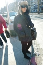 Miu Miu sunglasses - H&M hat - Mulberry purse - Zara coat