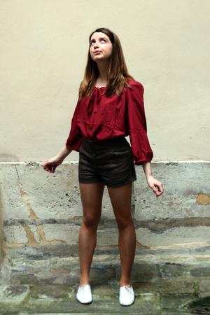 etam blouse - H&M shorts - Urban Outfitters shoes