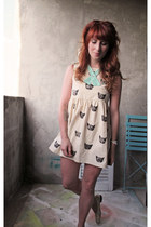 eggshell cat pattern Leah Goren dress