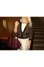 Black-h-m-blazer-eggshell-monteau-dress-maroon-h-m-bag
