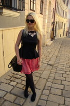black OASAP bag - black Gucci sunglasses - black F&F top