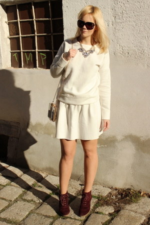 white sammydress skirt - beige Tally Weijl bag - black Gucci sunglasses