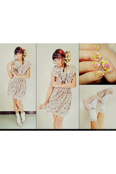 floral print Candies dress - Melissa wedges