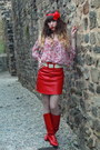 Red-vintage-boots-red-vintage-skirt-red-pepe-jeans-top