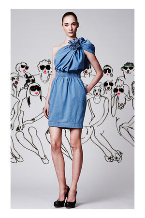blue AcneLanvin dress