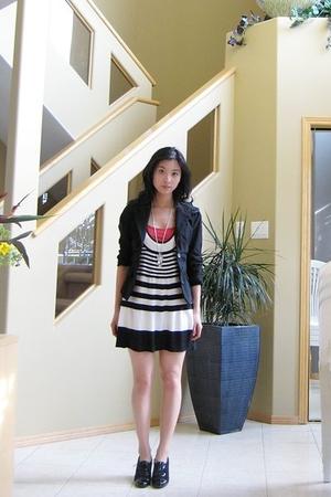 top - blazer - dress - shoes
