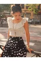 black sheer BLANCO skirt - camel leather vintage purse