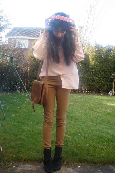 Topshop jeans - vintage shirt - DIY accessories