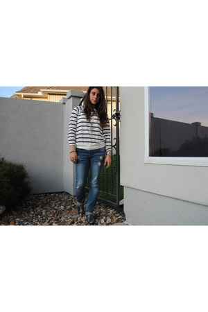 navy Forever 21 shirt - Forever 21 jeans